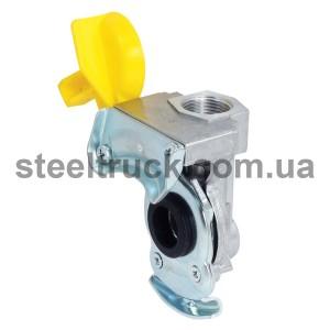 Разъем пневматический стар.образца М22 без обратного клапана (желтый) (ALSA), 63692202, 059-0076