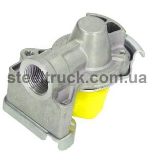 Разъем пневматический стар.образца М22 с обратным клапаном (желтый)  (ALSA), 63682202, 059-0079