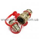 Разъем пневматический М22*1,5 (ЕВРО) красный, 059-0224