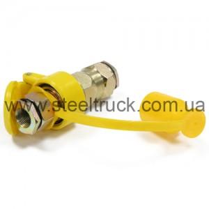 Разъем пневматический М22*1,5 (ЕВРО) желтый, 059-0225
