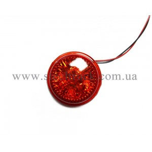 Сменная вставка габарит заноса прицепа LED, красная (4 диода), A-200KL, 31003621, 016-0002