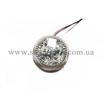Сменная вставка габарита заноса прицепа LED, белая (4 диода), A-200BL, 31003624, 016-0001