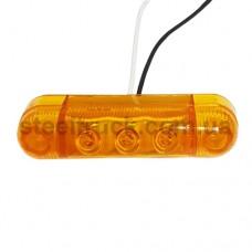 Фонарь габаритный декоративный желтый (3 LED), YP-100, 017-0151