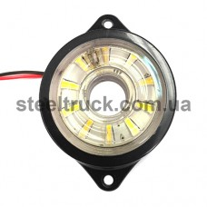 Фонарь габаритный LED, белый, бегущий диод (NOKTA), L0047W, 017-0178