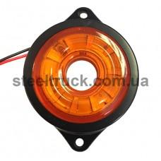 Фонарь габаритный LED, желтый, бегущий диод (NOKTA), L0047Y, 017-0179