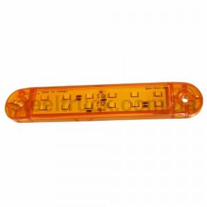 Фонарь габаритный LED 12 желтый 132*23мм