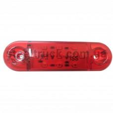 Фонарь габаритный LED 9 красный 12-24V 85*24 мм (ISS), ISS 4032-3, 075-0024