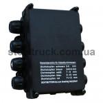 Распределительная (распаечная) коробка электропроводов для прицепов 8 выходов, 062-0077