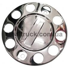 """Колпак колеса """"корона"""" 22,5, без надписи, нержавеющая сталь, 026-0128"""