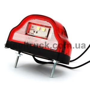 Подсветка номера 12V-24V, красная (LED) (WAS), 409, W72, 087-0014