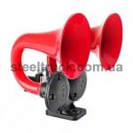 Сигнал воздушный MAN - DAF 24 V (с электро-пневматическим клапаном), SEGER HORN, двойной, 81JH2400, 056-0020