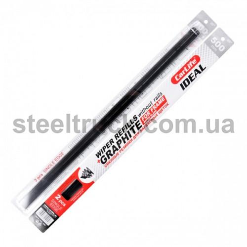 Сменная резинка для дворников CarLife Single Edge без металлической направляющей, 20-500 мм, 9253, 003-0012