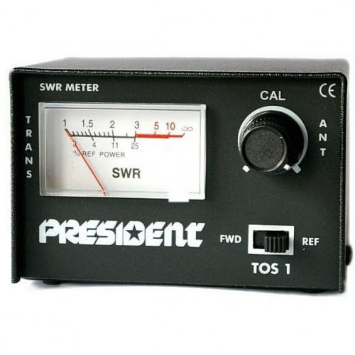 КСВ-метр (25-30 MHz) TOS-1 PRESIDENT, DXMR109, 138-0042
