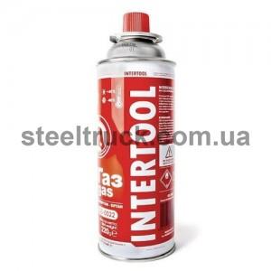Баллон газовый для печи 220 г. (INTERTOOL), GS-0022, 001-0106