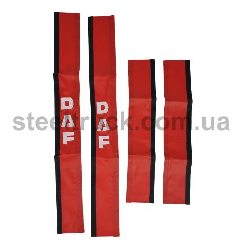 Чехол поручня DAF красный, 125-0114
