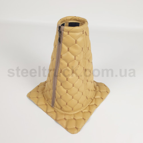 Чехол КПП эко-кожа DAF, Volvo бежевый, 125-0127