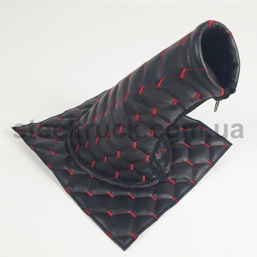 Чехол КПП эко-кожа MAN, Renault черный, 125-0130