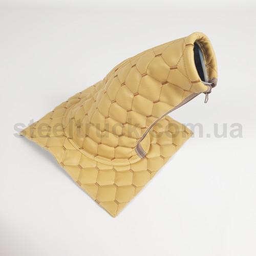 Чехол КПП эко-кожа MAN, Renault бежевый, 125-0133