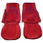 Чехол на сиденья DAF XF 105 (водитель+пассажир), красный, 9900444316, 009-0495