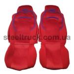 Чехол на сиденья DAF XF 95 (водитель+пассажир), красный, 9900444314, 009-0497