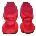 Чехол на сиденья MAN TGX, красный, 9900444303, 009-0501