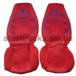 Чехол на сиденья RENAULT Premium (пилот), красный, 9900444310, 009-0503