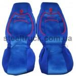 Чехол на сиденья RENAULT Premium (пилот), синий, 9900444309, 009-0504