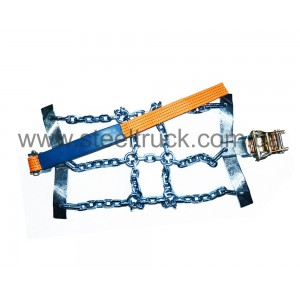Цепи противоскольжения секционные 315/80Х22,5 (браслет, крепление ремнем) , 2650007, 008-0014
