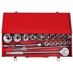 Профессиональный набор инструментов 3\4 ,20 единиц (головки 19-50) металлический кейс, ЕТ-6024, 025-0091