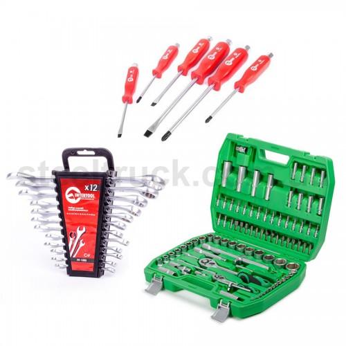 Набор инструментов 94 единицы + отвертки + набор ключей 6-22, 999-0049