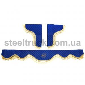 Шторки комплект VOLVO ЭКО-кожа, синий