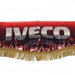 Шторка комплект IVECO, красная