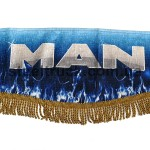 Шторка комплект MAN, синяя