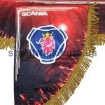 Шторка комплект SCANIA, красная