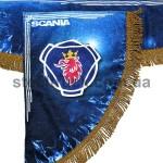 Шторка комплект SCANIA, синяя