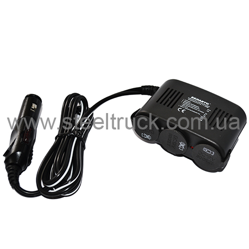 Разветвитель прикуривателя тройной +USB (Белавто), 31598, 001-0029