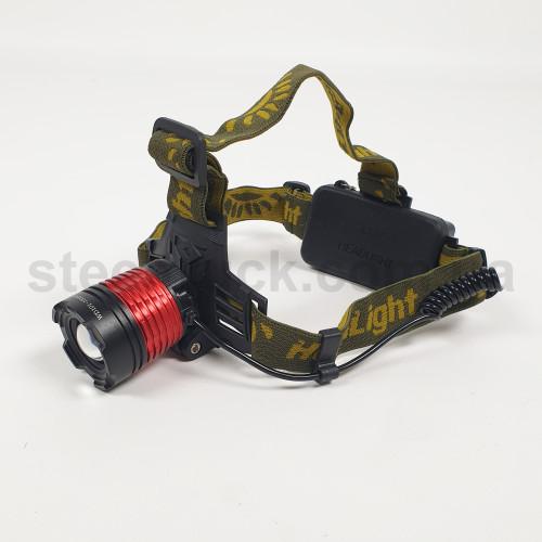 Фонарик налобный с аккумулятором и автомобильной зарядкой, WD047, 004-0154