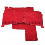 Коврик салона мягкий MAN TGX с 2005 года (водитель+пассажир+средина), красный, 4281121620, 009-0491