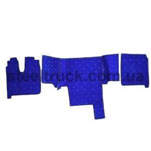 Коврик салона мягкий MAN TGA 410 (водитель+пассажир+средина), синий, 4281121610, 009-0493