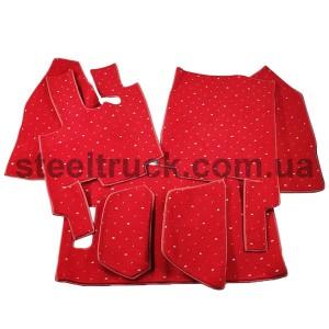 Коврик салона мягкий DAF XF 105 (водитель+пассажир+средина) автомат, красный, 085-0009