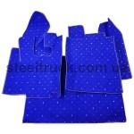 Коврик салона мягкий DAF XF 105 (водитель+пассажир+средина), синий, с автоматической КПП, 4281121622, 009-0514