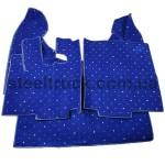 Коврик салона мягкий DAF XF 105 (водитель+пассажир+средина), синий, 4281121605, 009-0516