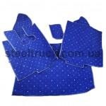 Коврик салона мягкий DAF  XF 95 (водитель+пассажир+средина), коробка автомат, синий, 4281121601, 009-0517
