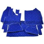 Коврик салона мягкий DAF XF 95 (водитель+пассажир+средина), механика синий, 4281121603, 009-0513