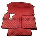 Коврик ЭКО-кожа MAN TGA автомат, красный, 55993873, 009-0530
