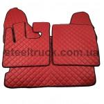 Коврик ЭКО-кожа DAF XF 105 автомат, красный, 55993883, 009-0533