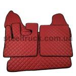 Коврик ЭКО-кожа DAF XF 105 механика, красный, 55994153, 009-0536