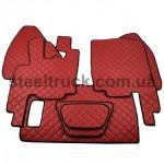 Коврик ЭКО-кожа DAF XF 95 механика, красный, 55994073, 009-0539