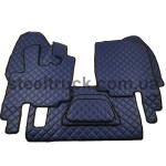 Коврик ЭКО-кожа DAF XF 95 механика, синий, 55994075, 009-0540