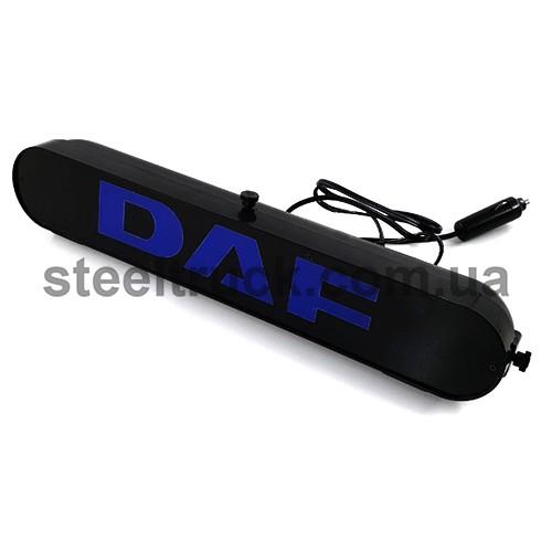 Табличка диодная DAF, синяя, 002-0099